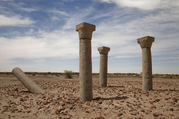 Picture of Four columns are all that remains of the church on Sai IslandSai - Sudan