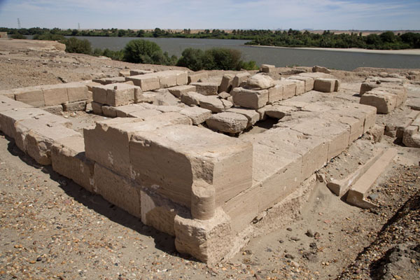 Picture of Sai Island (Sudan): Ruins on the banks of the river Nile on Sai Island