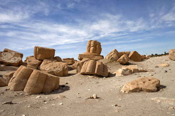 Bits and pieces of the temple of Soleb lying on the ground | Soleb | Soudan