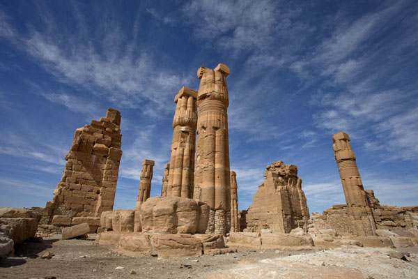 Picture of The temple of Soleb with cloudsSoleb - Sudan