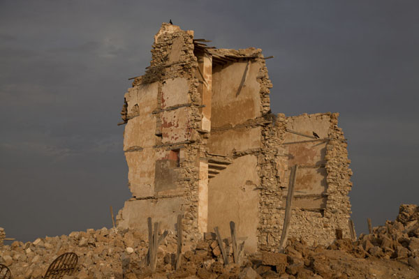 Late afternoon sun over the ruins of a building in the old town of Suakin | Suakin Old Town | Sudan