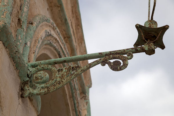 Picture of Rusty lantern on the wall of the best-preserved building of the old town of Suakin