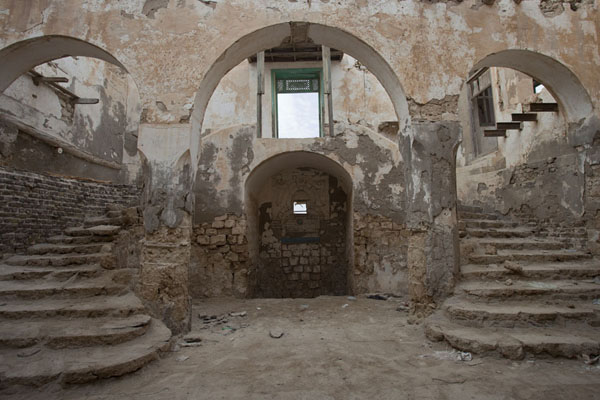 Inside the best preserved building of Suakin with two flights of steps | Suakin Old Town | Sudan