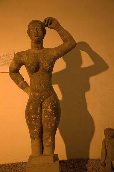 Foto van Female figure from Nubia on display in the museumKhartoem - Soedan