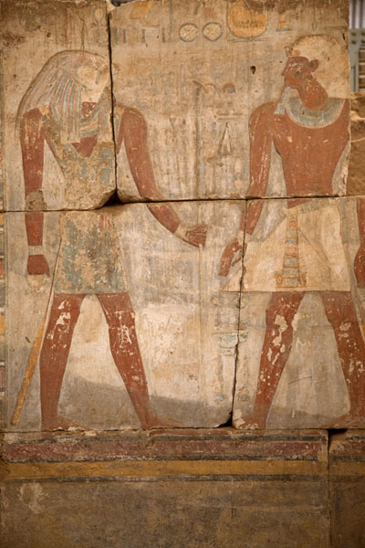 Figures painted on a wall in the temple of Buhen | Sudan National Museum | Soedan