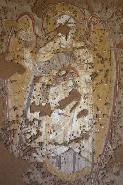 Picture of Fresco rescued from a church from the Christian era in Nubia - Sudan - Africa