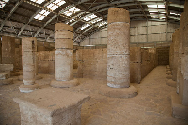 The temple of Buhen on the premises of the National Museum of Sudan | Sudan National Museum | Soedan