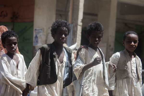 Foto van Sudanese kids in the streets of KassalaSoedanezen - Soedan