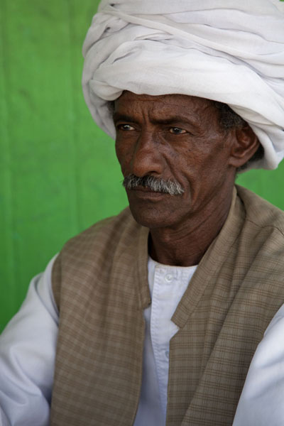 Picture of Man with turban and serious look posing for the picture - Sudan - Africa