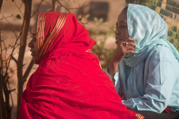 Picture of Two girls at the dervishes of Hamed el Nil in OmdurmanSudan - Sudan