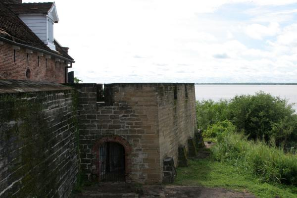 Picture of Suriname river and Fort Zeelandia in the foreground