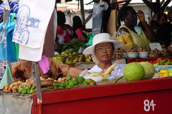 Picture of Marketwoman at Paramaribo market