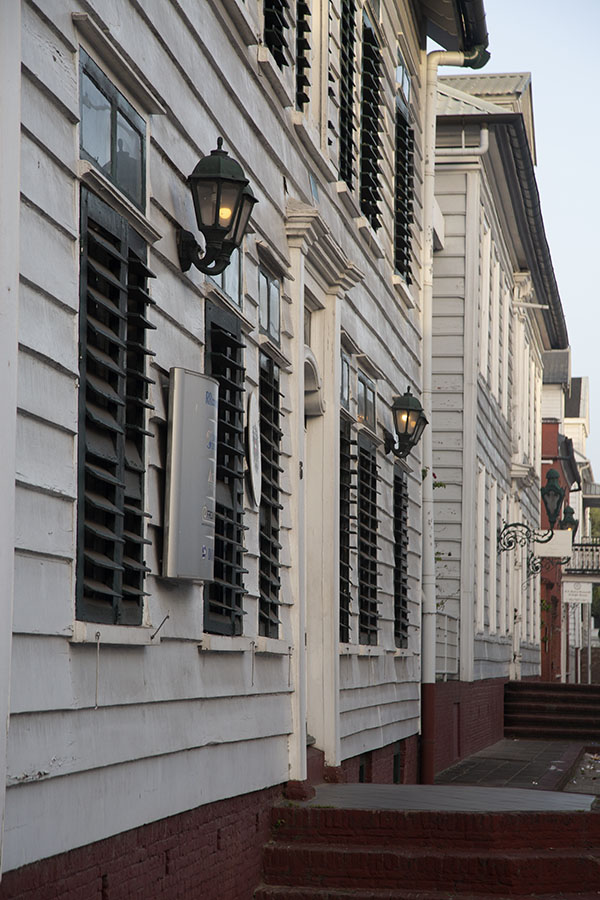 Picture of Row of buildings in the early eveningParamaribo - Suriname