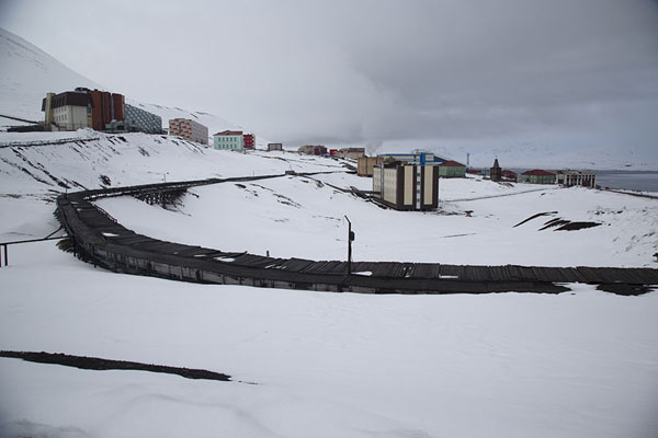 Picture of View of Barentsburg in the snow