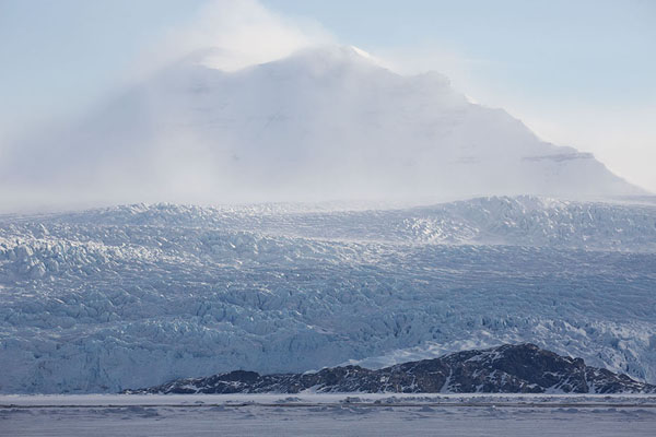 Picture of Billefjorden (Svalbard and Jan Mayen): View of Nordenskiöld glacier coming down the mountains