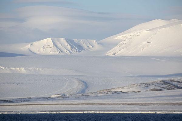 Picture of Billefjorden (Svalbard and Jan Mayen): View of Nordenskiöldglacier at the northern side of Billefjorden