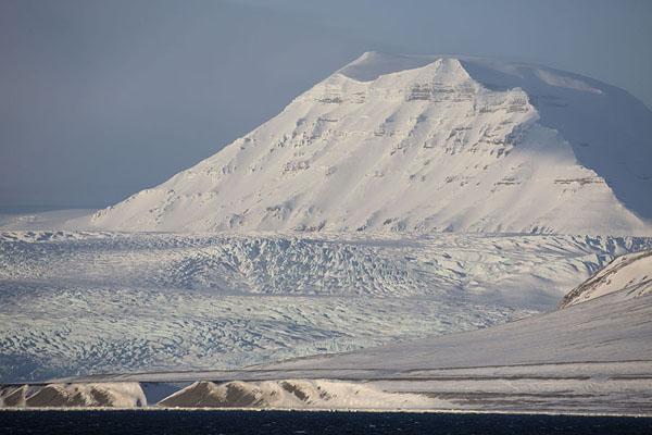Picture of Billefjorden (Svalbard and Jan Mayen): Nordenskiöld glacier seen from Billefjorden