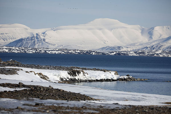 Picture of Camp Millar (Svalbard and Jan Mayen): View towards the entrance of Bellsund near Camp Millar
