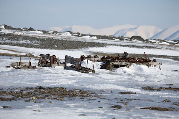 Remains of trains that were once used to transport gold | Camp Millar | Svalbard and Jan Mayen