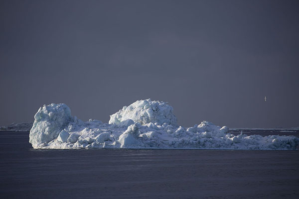 Foto van One of the many icebergs in the morning light near MohnbuktaMohnbukta -
