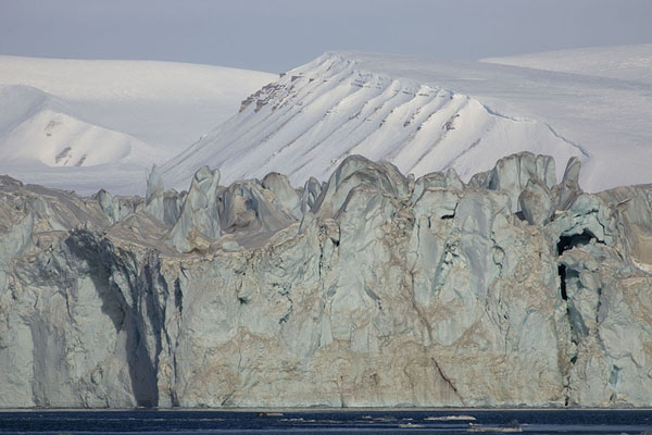 Picture of Blue wall of ice: frontal view of NegribreenNegribreen - Svalbard and Jan Mayen