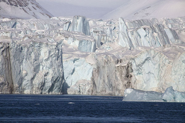 Part of the big glacier of Negribreen | Negribreen glacier | Svalbard and Jan Mayen