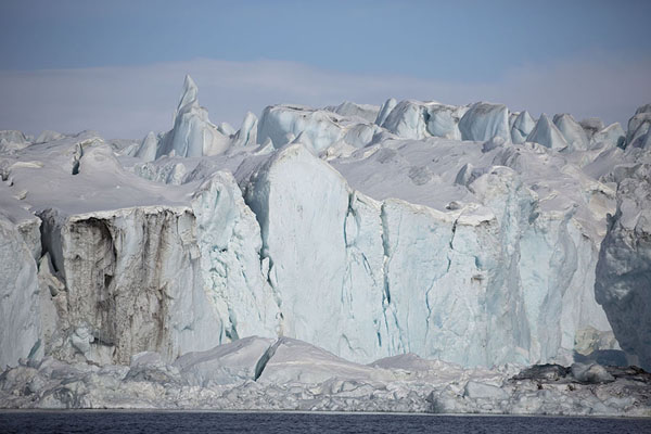 Picture of Frontal view of the wall of NegribreenNegribreen - Svalbard and Jan Mayen