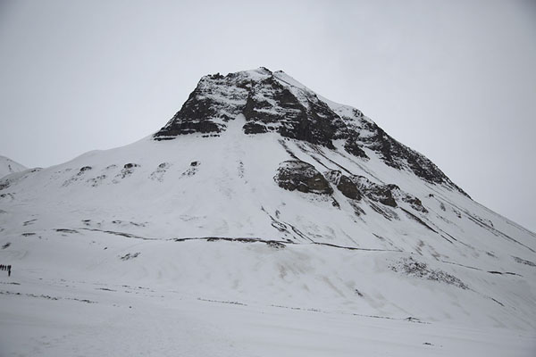 Picture of Sarkofagen seen from below - Svalbard and Jan Mayen