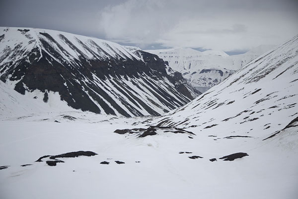 View from near the entrance of the ice cave | Sarkofagen and ice cave hike | Svalbard and Jan Mayen