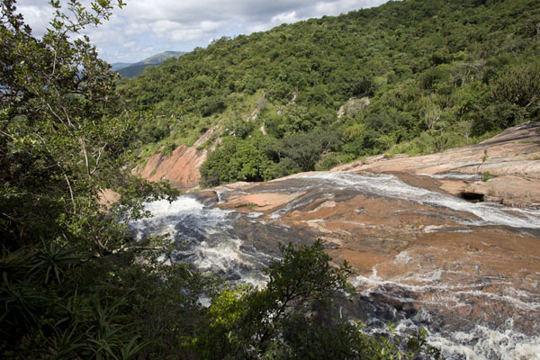View of the Phophonyane falls from the top | Chute du Phophonyane | Swaziland