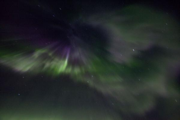 Light seemingly beamed into the sky | Abisko Northern Lights | Sweden