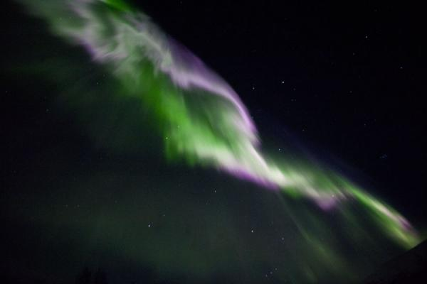 Aurora borealis dancing in space | Abisko Northern Lights | Sweden