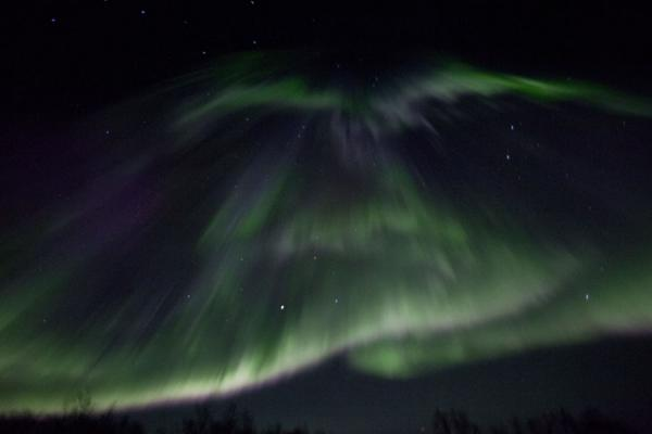 High curtain of northern lights in the sky | Abisko Northern Lights | Sweden