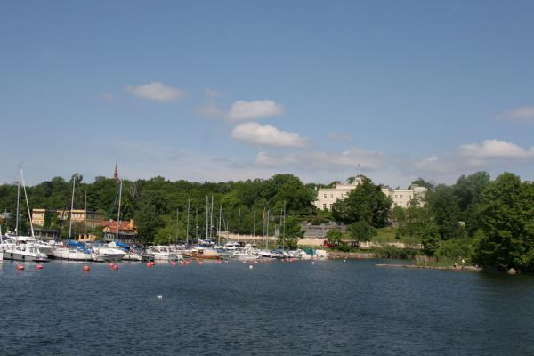 Looking back towards one of the small harbours of Djurgården | Djurgården | Sweden