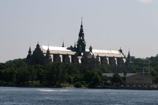 Picture of Djurgården: view on Nordiska Museum from the ferry