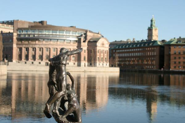 View of the western side of Gamla Stan with House of Parliament on the left | Gamla Stan | Sweden