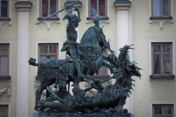 Picture of Statue of St George and the Dragon on Köpmanstorget in Gamla StanStockholm - Sweden
