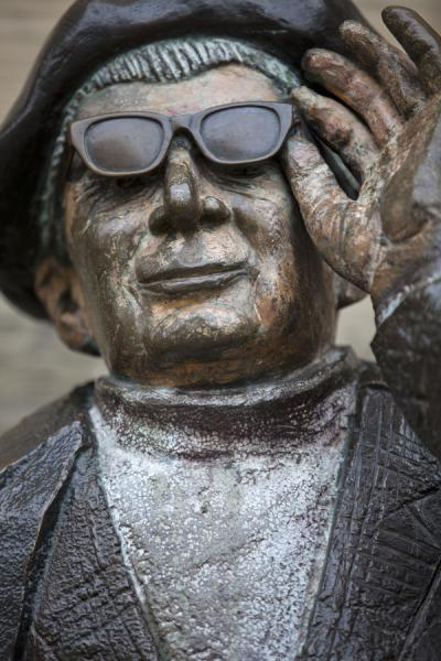 Picture of Sculpture of man with glasses in a street in Gamla StanStockholm - Sweden