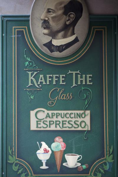 Picture of Gamla Stan (Sweden): Café sign in Gamla Stan