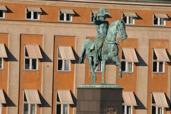 Picture of Gamla Stan (Sweden): Small square with statue on the southern side of Gamla Stan