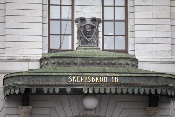 Picture of Gamla Stan (Sweden): Entrance to a building on Skeppsbron on the eastern side of Gamla Stan