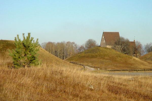Some of the mounds and the cathedral | Gamla Uppsala | Sweden