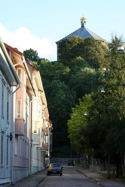 Picture of Skansen Kronan towering above Haga district - Sweden - Europe