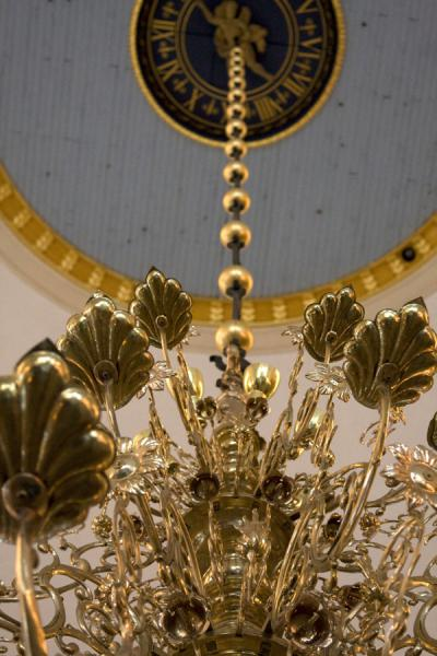 Picture of Looking up an enormous chandelier inside Katarina KyrkanStockholm - Sweden