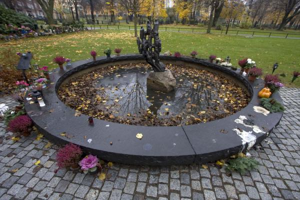 Picture of Fountain with candles near Katarina KyrkanStockholm - Sweden