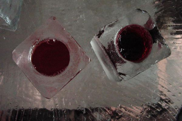 Picture of Ice glasses with drink in ice bar