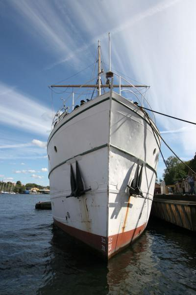 Picture of Stockholm waterfront (Sweden): Ship moored at Stockholm waterfront