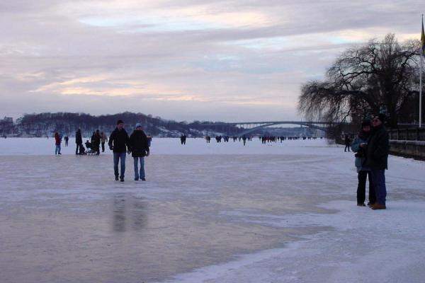 Picture of Stockholm Winter (Sweden): Riddarfjorden in winter, Stockholm
