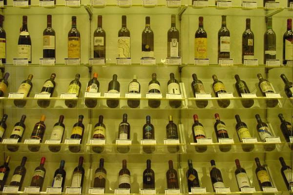 Bottles on display | Systembolaget | Sweden