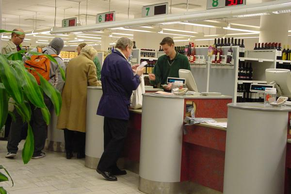 Picture of Systembolaget (Sweden): Counter at Systembolaget